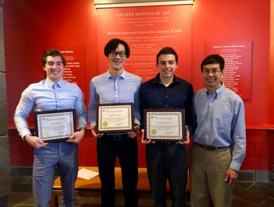 Undergraduate Researchers win award at 2019 Penn State Undergraduate Exhibition